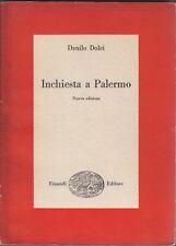 Danilo Dolci, Inchiesta a Palermo, Einaudi, 1957, sociologia, Sicilia, Saggi