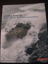 AAV7A1 RAM/RS Family of Assault Amphibious Vehicles Data Sheet / BAE Systems New