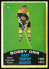 1970 71 OPC O PEE CHEE HOCKEY 246 BOBBY ORR LG BOSTON BRUINS HART TROPHY WINNER