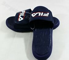 Fila Men's Supersoft Footbed Sandals BLUE Size: 12 or 13 Free Shipping
