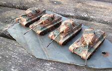 Flames of War WW2 15 mm allemand KEONIG King Tiger peloton. x4 finement peinte.