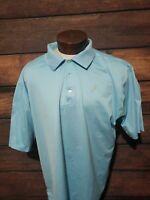 Peter Millar Mens 2XL XXL Sky Blue Short Sleeve Golf Polo Shirt