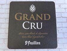 Beer Bar Coaster ~*~ ST FEUILLIEN Grand Cru Extra Blond Ale ~ Le Roeulx, BELGIUM