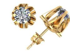 .90Ct Round Cut Diamond Buttercup Stud Earrings 18k Yellow Gold Over Prong DVSS1