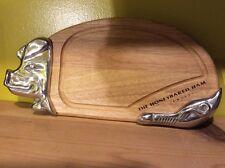 Honeybaked ham pig hog wood aluminum cutting board kitchen carving art