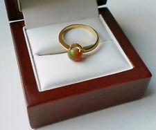 NEU** Unikat VOLL OPAL Gold Ring 750er 18kt Gr. 57 Äthiopischer Welo Opal!!