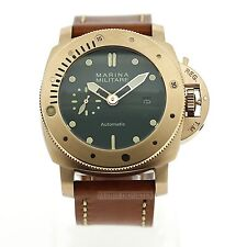 Parnis Marina Militare 45mm Automatic Sub Pam SEAGULL Watch 2017 NEW Rose Gold