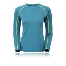 Abbigliamento sportivo da donna traspirante blu manica lunga