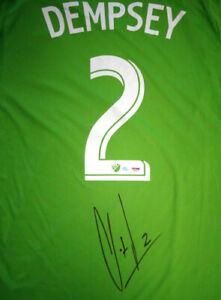 SOUNDERS CLINT DEMPSEY AUTOGRAPHED GREEN ADIDAS JERSEY L PSA/DNA ITP 89895