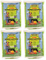 60lb (4x15lb) Wiggle Worm Soil Builder Earthworm Castings Organic Fertilizer