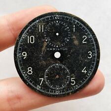 RARE WWII CHRONOGRAPH HAMILTON DIAL Military Pocket Watch Model 23 Old Vintage