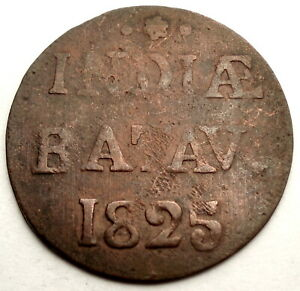 NETHERLANDS EAST INDIES 1/2 STUIVER 1825 KM#284.2 M10.1