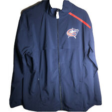 Columbus Blue Jackets Fanatics Authentic Pro Rinkside Full-Zip Jacket size M New