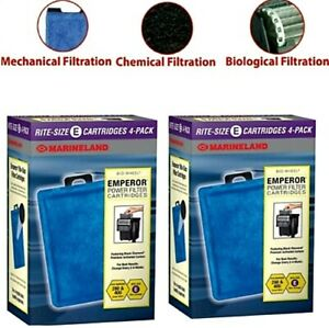 8 Marineland Rite-Size Cartridges Filters E PA0137-04 Tank For Emperor 280 400