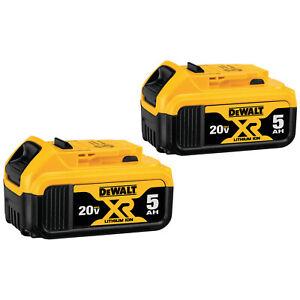 DeWALT DCB205 20V Volt MAX XR 5.0Ah Li-Ion (Power Tool) Battery 2-Pack 2020 DATE