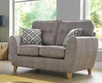 Maya 2 Seater Fabric Sofa Settee Upholstered In Wheat