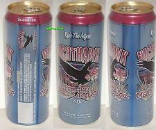 24oz NIGHTHAWK MALT LIQUOR RULE THE NIGHT BLACK HAWK BEER CAN LACROSSE,WISCONSIN