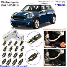 17 Bulbs Deluxe LED Interior Light Kit White For 2010-2016 R60 Mini Countryman