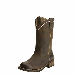 """Ariat 10015374 Unbridled Roper 10"""" Cowgirl Riding Wellington Work Boots"""