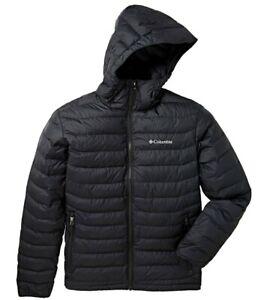 Columbia Men's Powder Lite Hooded Jacket Coat Black Size Small