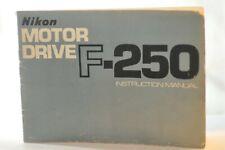 Nikon F250 F-250 Motor drive instruction owner's manual guide ORIGINAL NICE RARE