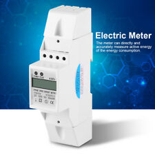 Digitale LCD 220V Monofase DIN-Rail Elettrico Contatore Energia KWh Metro