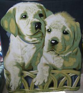 New! PUPPIES Dogs Blanket/Throw Adorable Pet Companion Labrador Homemade