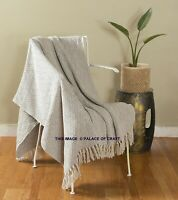 New Soft Hand Woven Bohemian Blanket Cotton Home Decor Bed Sofa Couch Throw Arts