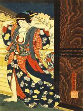 Pinturas Dibujo Geisha Cabello tradición Taiso Japón Oiran cartel impresión lv3044