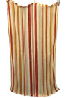 """Vintage Homemade Autumn Fall Colored Striped Rag Rug 22 X 42"""""""