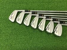 NICE Wilson Golf 1988 STAFF Fluid Feel Iron Set 3-9 Right Steel STIFF Red Plug