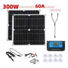 300W Watt Solar Panel Kit 2-1 Monocrystalline Solar Panel for RV Boat Marine