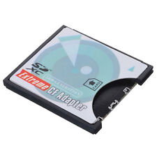 SD SDHC SDXC To CF Compact Flash Memory Card Adapter Reader