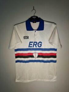 RARE ORIGINAL SAMPDORIA AWAY FOOTBALL SHIRT 1992 L MAGLIA CALCIO ITALY #11 ASICS