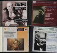 BEETHOVEN  Beecham Toscanini Choral Symphony Lot Weingartner  Bundle CDS HL8.11