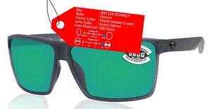 Costa Del Mar Rincon Smoke Frame Green Mirror 580 Glass Polarized Lens