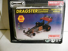 """Brand New Remco """"STEEL TEC"""" (Meccano Like) Construction Set DRAGSTER 80-Pieces."""