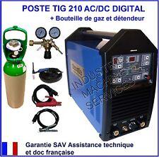POSTE A SOUDER SOUDAGE TIG 210 ACDC HF INVERTER IGBT + GAZ ARGON + détendeur