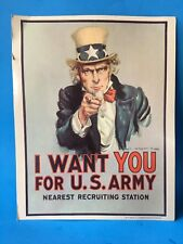 I Want You For The US Army POSTER ( RPI 223 JUNE 1979 ) VINTAGE NOT CHEAP PRINT