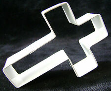 NEW WHITE CROSS CHRISTENING SHAPED COOKIE BISCUIT PASTRY CUTTER RELIGION AH
