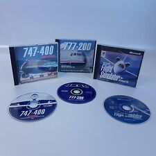 PC CD-ROM 777-200 + 747-400 + Microsoft Flight Simulator