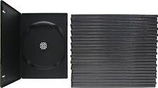 (25) DVBR07BK Super Thin Slim Empty Black DVD Cases Boxes 7mm NEW Disc Media CD