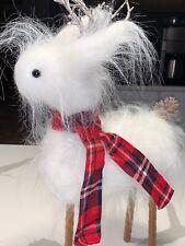 Pottery Barn Mongolian Fur Reindeer Figure Medium NEW Christmas Holiday