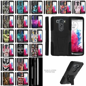 For LG V10   LG G4 Pro Hybrid Dual Layer Protective Case Kickstand