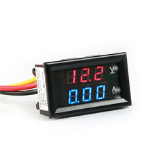 HOT DC 4.5-30V 10A Voltmeter Ammeter Red+Blue LED Panel Amp Digital Volt Gauge