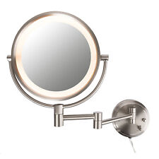 Conair BE6BXR Double Sided Lighted 8X Magnification Fog-Free Wall Mount Mirror