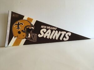 Vintage 1980s Collectible Pennant New Orleans Saints NFL Football