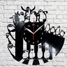 The Penguines of Madagascar Vinyl Record Wall Clock Fan Art Decor 12'' 30cm 340