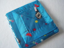 Baby bedding Handmade Blue Mickey&Minnie Mouse fleece Blue Satin Blanket Binding