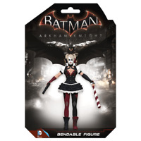 DC COMICS HARLEY QUINN BENDABLE ARKHAM KNIGHT FIGURE POSEABLE DC3954 COLLECTIBLE